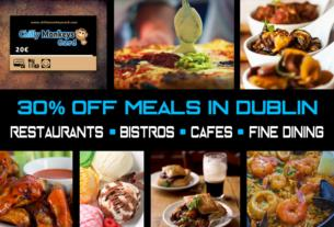 Dine for less in Dublin Unlimited use covering well known restaurants Only 20