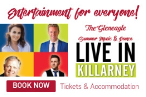 Experience the best of Irish music at The Gleneagle Hotel