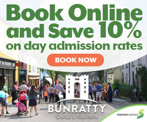 10 OFF Bunratty Castle  Folk Park Day Tickets