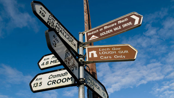 Signposts in the republic of Ireland