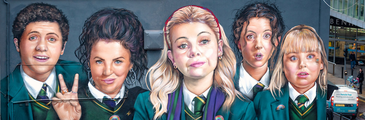 The Derry Girls mural