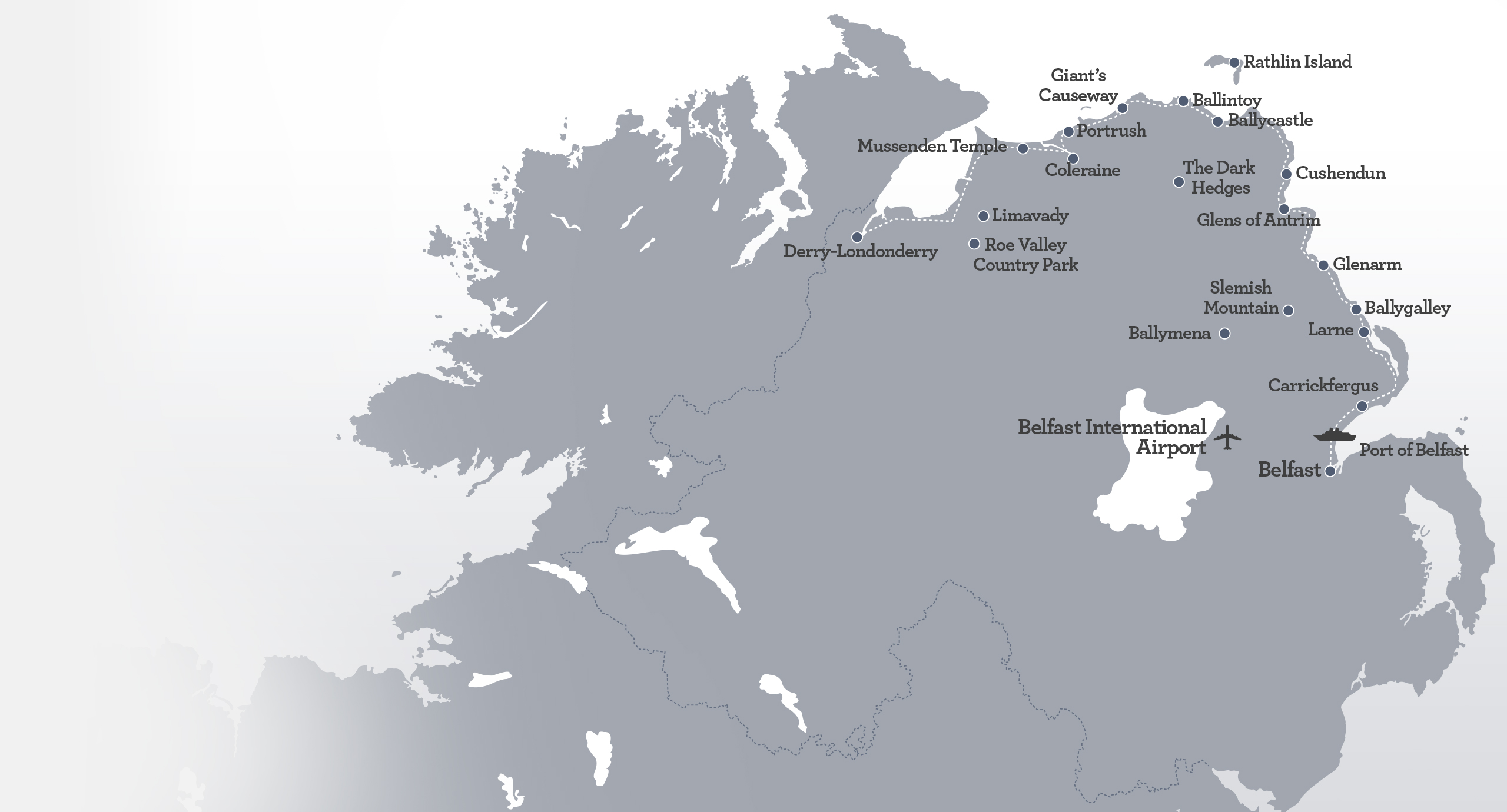 International Airports In Ireland Map.The Causeway Coastline Some Of Irelands Most Incredible Scenery