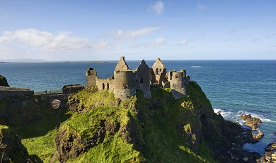 Romantic castles on cliff edges
