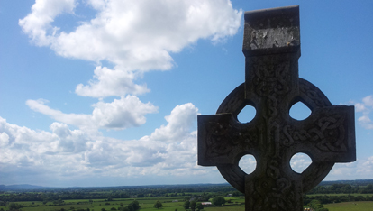 A high cross at the Rock of Cashel
