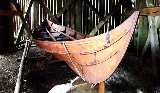 A Viking reconstruction, The Irish National Heritage Park, County Wexford