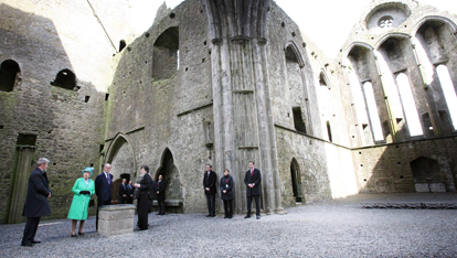Queen Elizabeth II and The Duke Of Edinburgh at the Cathedral at St Patrick's Rock Cashel , Co.Tipperary
