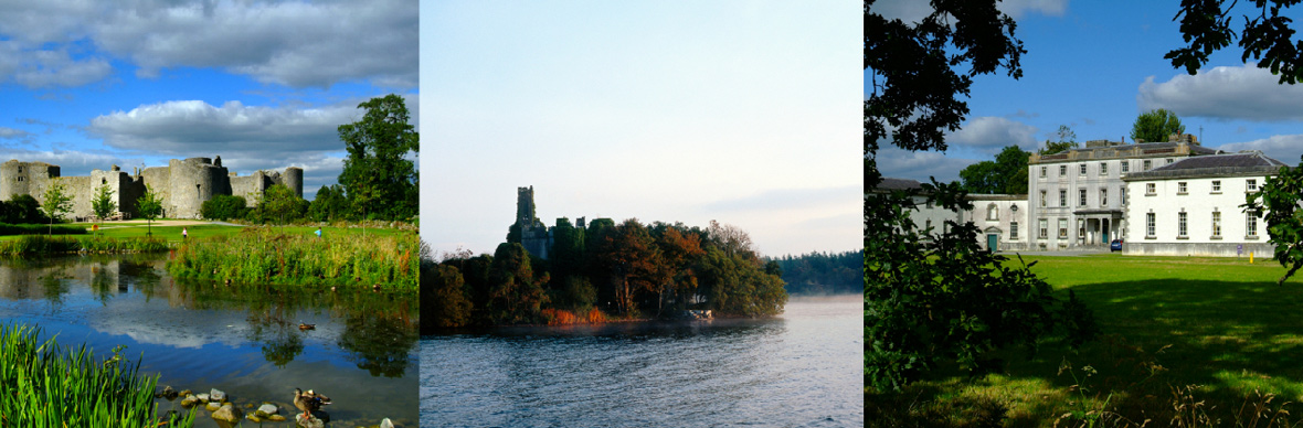 Roscommon Castle, Lough Key Forest park, Strokestown House