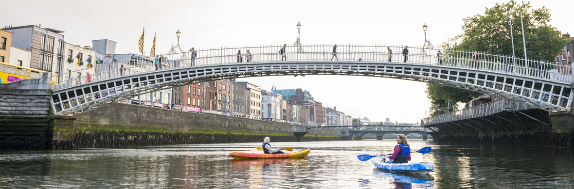 Kayaking on the River Liffey