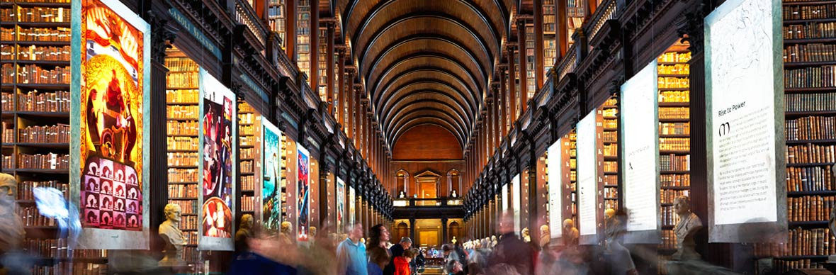La bibliothèque de la Long Room, Trinity College, Dublin