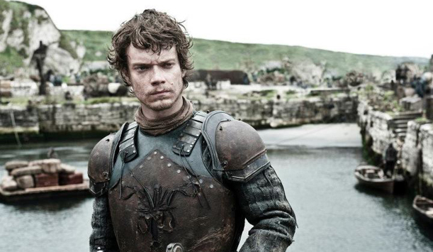 Actor Alfie Allen is in character as Theon Greyjoy.