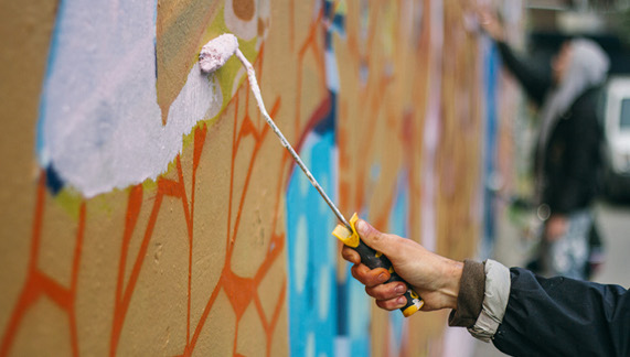 Graffiti coming to life at The Bernard Shaw