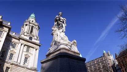 The Titanic Memorial at City Hall, Belfast