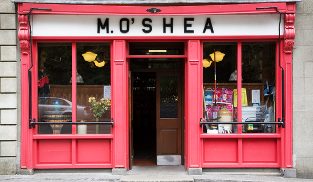 M O'Shea's provided by James Fennell