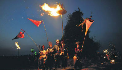 Uisneach festival of fire, County Westmeath (May)