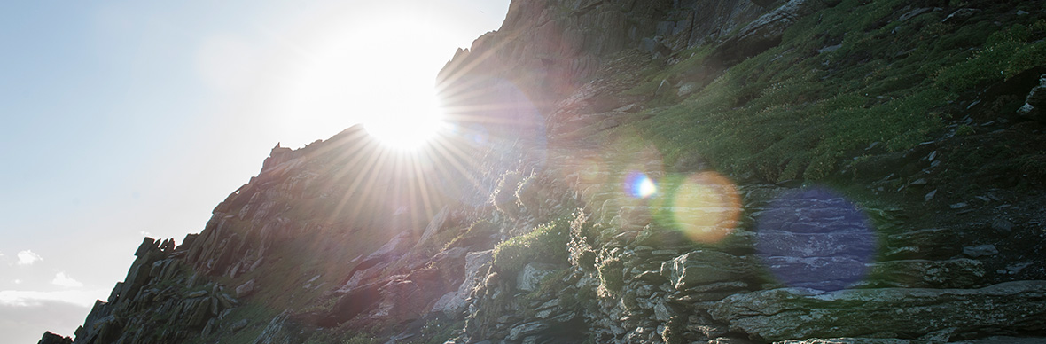 Sunburst on Skellig Michael