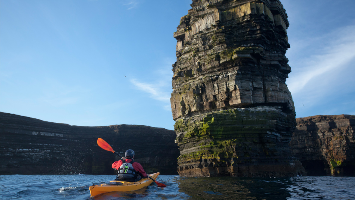 Sea kayaking, Ireland