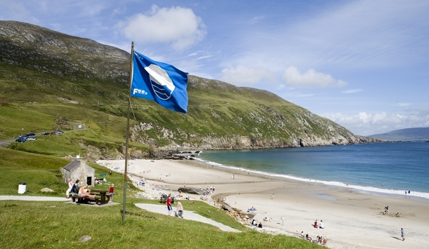 Keem Strand is one of Achill's five Blue Flag Beaches