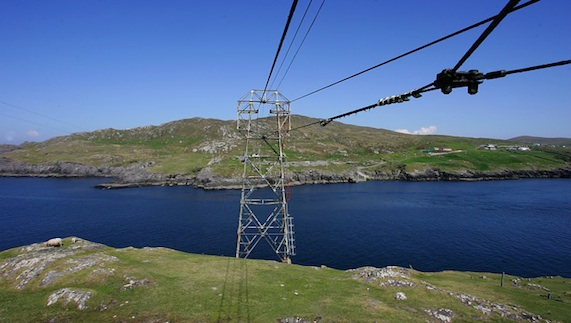 Lines for the Dursey Island cable car