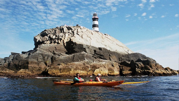 Kayaking around Old Head
