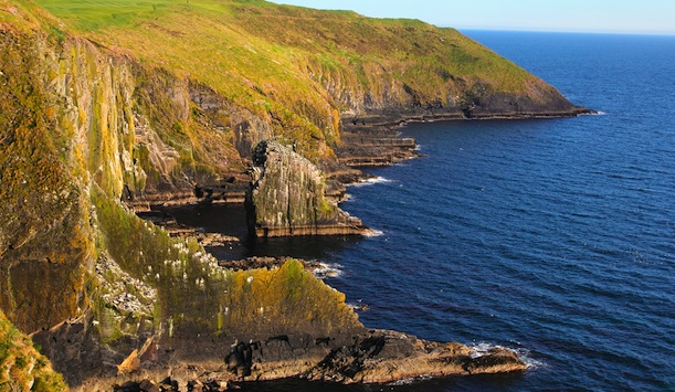Rugged ocean cliffs, Old Head provided by Captblack76