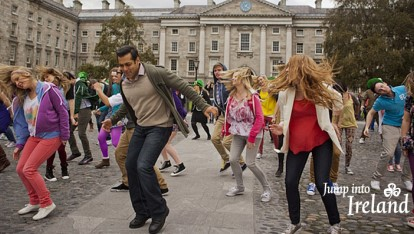 Salman Khan filming Bollywood movie 'Ek Tha Tiger' in Trinity College Dublin