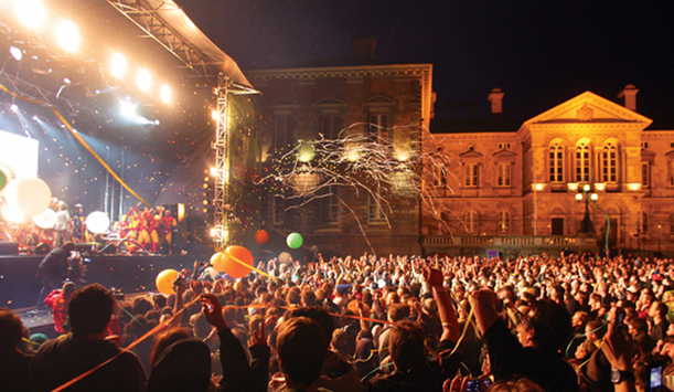 The Belsonic festival in Belfast city