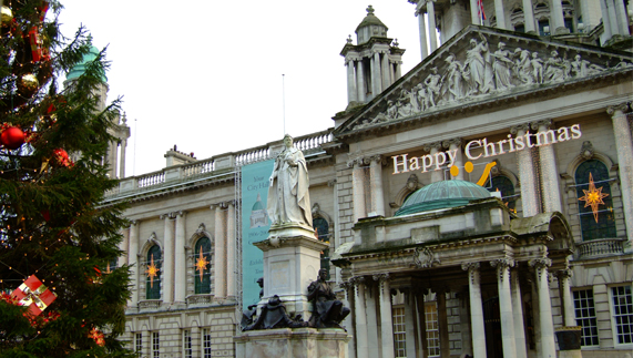 Belfast City Hall getting into the Christmas spirit