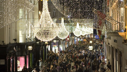 Dublin's Grafton Street at Christmas time