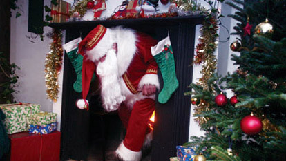Santa arrives in Springhill House