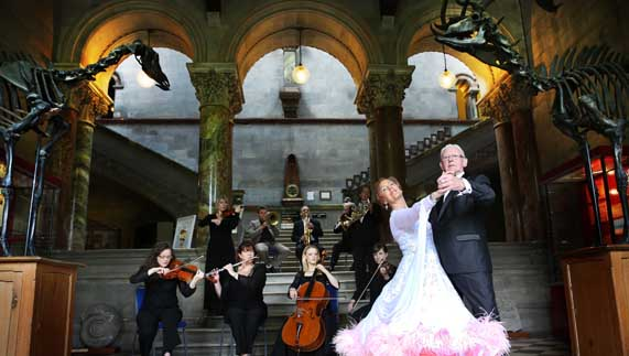 Ballroom dancing in a history museum: typical fare at Culture Night