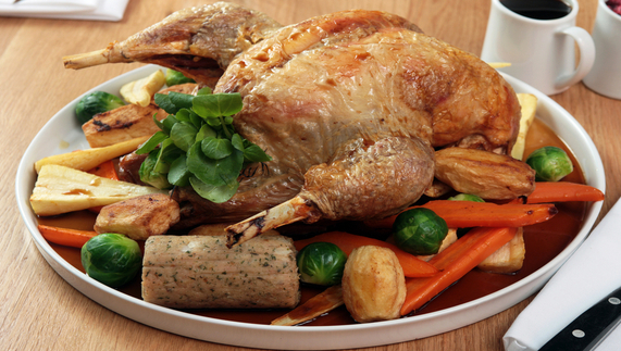 Turkey with tasty sausage stuffing