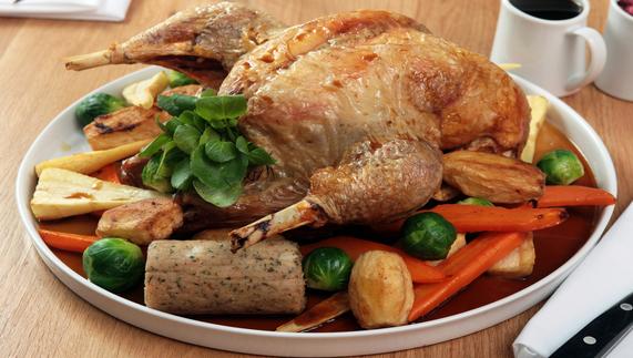 Traditional Irish Christmas Dinner.Christmas Feast Holiday Meals Ireland Christmas Food