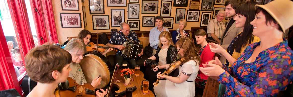 Session de musique irlandaise traditionnelle, comté de Galway