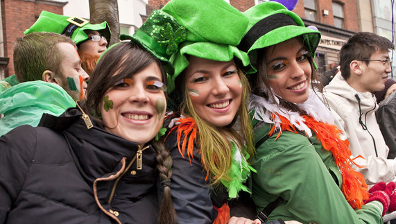 All smiles at the St Patrick's Day parade in Dublin
