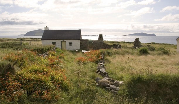 House on a hillside on the Dingle Peninsula, County Kerry