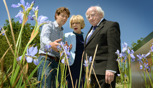 Gerard Mullen with Sabina and President Michael D Higgins                                 provided by The Irish Times