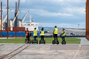 Segway tour of titanic quarter