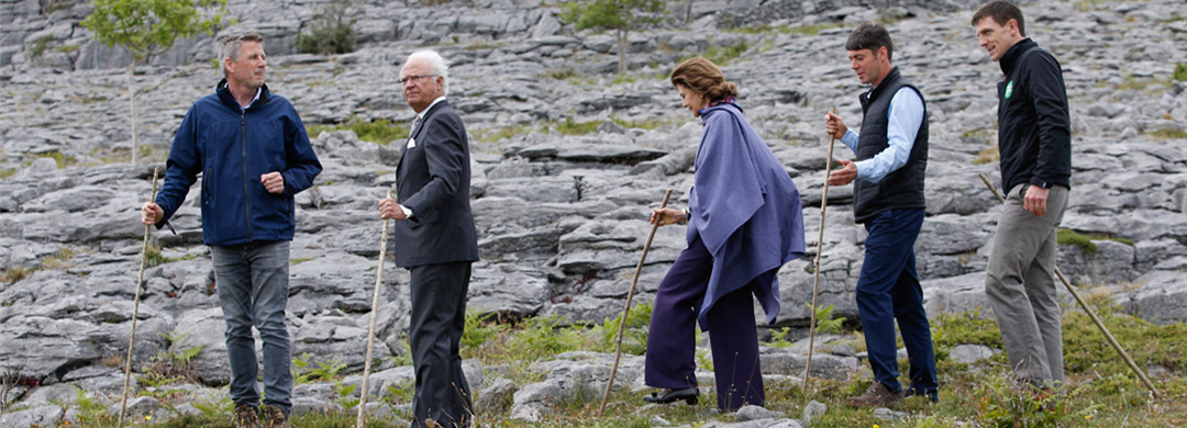 Their Majesties of Sweden at the Burren