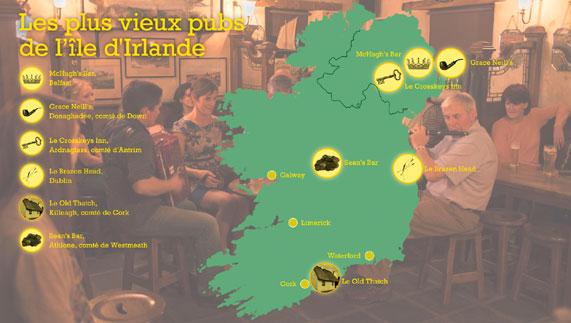 Les plus vieux pubs de l'île d'Irlande