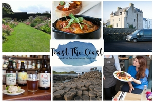 Book a 2 night BB stay at Ballygally Castle Hotel Food Tour of the Causeway Coastal Route  Tour of the Giants Causeway with Toast the Coast from 245 pps