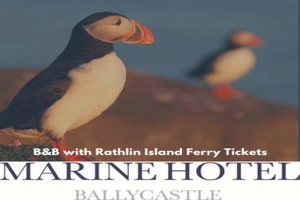 Stay overnight at the Marine Hotel Ballycastle and visit Rathlin Island during your stay from 93 per couple