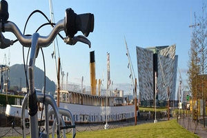 Cycle through time on a Cycle Tour of Titanic Quarter and Belfast City Centre from 15 pp