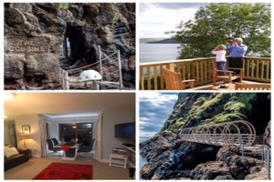 3 night stay at Largy Coastal SelfCatering Apartments  in Carnlough with 2 hour guided tour of the Gobbins Cliff Walk for 104 pp