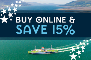 All aboard the Scenic Carlingford Ferry and get 15 Discount Off Online Tickets