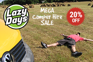 Explore Ireland with Lazy Days MEGA January Sale offering a 20 discounts on VW Camper Hire in 2018
