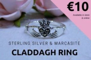 Treat yourself or a loved one to a beautiful Sterling Silver Claddagh Ring from Celtic Spirit Dublin for just 10