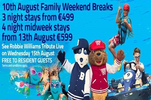 Treat yourself to a Mid August Family Holiday to Trabolgan Holiday Village County Cork from 499 per stay