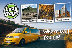 Explore the Causeway Coastal Route in a Lazy Days VW Camper from 300 for 3 days