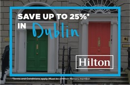 Save 25 on your Dublin stay with Hilton