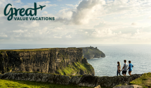 7Nights or more with round trip airfare hotel car rental tours  more Includes Kilkenny Claire and Cliffs of Moher